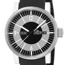 Fortis Spacematic Classic Black Stahl Automatik 40mm