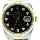 Rolex Datejust 16233 steel & gold con brillantes