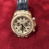 Rolex 116599TB Daytona White Gold Diamond Bezel Bagutte