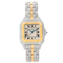 Cartier Panthere Large Steel 18k Yellow Gold Watch W25028b5