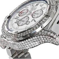 Breitling Mens Diamond Breitling Super Avenger White Dial...