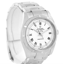 Rolex Oyster Perpetual Air King White Roman Dial Watch 114210