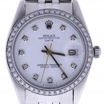 Rolex Date 6694 34 Millimeters White Dial