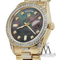 Rolex Presidential Day Date 36mm Dial Diamond Watch 18 Kt...