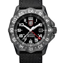 Luminox Mens F-117 Nighthawk GMT Series - Gunmetal PVD Case -...