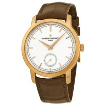 Vacheron Constantin Traditionnelle Brown Leather Mens Watch...