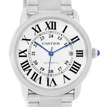 Cartier Ronde Solo Xl Silver Dial Steel Watch W6701010 Box Papers