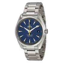 Omega Aqua Terra Blue Automatic James Bond Mens Watch 231.10.4...