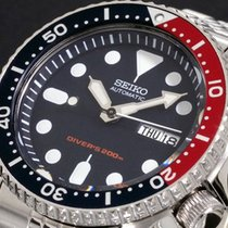 Seiko SKX009K2 7S26 Pepsi Bezel Black Diver Watch