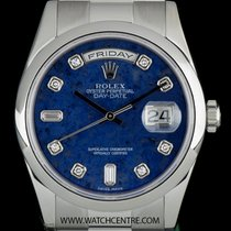 Rolex Platinum O/P Sodalite Diamond Dial Day-Date Gents 118206