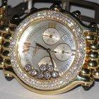 Chopard Happy Sport Chronograph 18K Solid Gold Diamonds