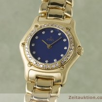 Ebel Lady 18k (0,750) Gold 1911 Damenuhr Diamanten 890910