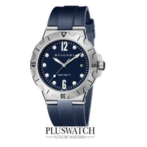 Bulgari Diagono Scuba Stainless Steel Case  Blue Dial 41mm T