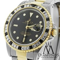 Rolex Gmt Master Ii 16713 Two Tone 18k Gold Black & White...