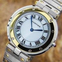 Cartier Santos Men's 32mm 18k Gold And Ss Swiss Made...