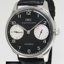 IWC Portugieser 2000 7 Days Stainless Steel Black Dial Watch...
