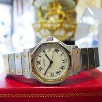 Cartier Santos Octagon Unisex Steel 18k Gold 30mm Date Quartz...