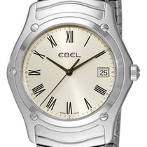 Ebel Classic 1215437 Stainless Steel Mens Watch Silver Dial...