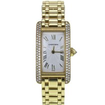 Cartier Tank Americaine 1710 34mm 18k Yellow Gold Men's