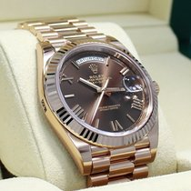 Rolex President 40mm Day-date 228235 18k Rose Gold Chocolate...