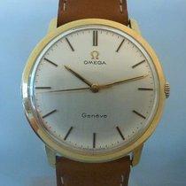 Omega vintage 1968 genève case 131.021 gold 18ct calibre 601...
