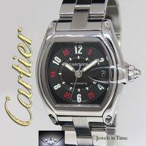 Cartier Roadster Stainless Steel Black Las Vegas Dial Mens...