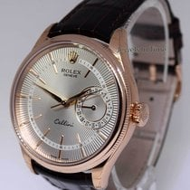 Rolex Cellini 50515 18k Rose Gold Silver Dial NOS Tags/Box