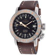 Glycine Airman 18 Black Dial Automatic Brown Leather Men's...