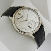Rolex Cellini Dual Time 39mm Mens Watch WHITE GOLD 50529...