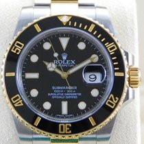 Rolex Submariner Date Two Tone 18kt YG/SS Black Dial-116613LN