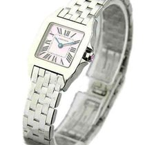 Cartier W25075Z5 Santos Demoiselle with Pink MOP Dial - Steel...