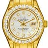 Rolex Oyster Perpetual Lady Datejust Pearlmaster 18kt Y...