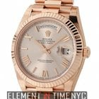 Rolex Day-Date 40 18k Rose Gold President 40mm Sundust Roman...