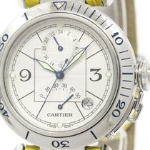 Cartier Polished Cartier Pasha 38 Gmt Power Reserve Automatic...