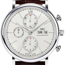 IWC Schaffhausen IW391007 Portofino Chronograph Silver Plated...