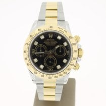 Rolex Daytona Steel/Gold BlackDIAMOND Dial (B&P2012) MINT