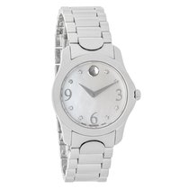 Movado Diamond Mother of Pearl Ladies Swiss Quartz Watch 0606696