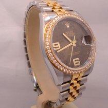 Rolex Datejust 116243 36mm Two Tone 18k Yellow Gold Diamond...