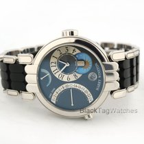 Harry Winston Premier Excenter Time Zone Retrograde 18k White...