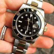Rolex Submariner ceramica ceramic gold oro diamonds diamanti FULL