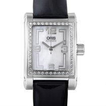 Oris Rectangle Diamonds Ladies Stainless Steel Automatic Watch...
