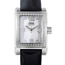 Oris Rectangle Diamonds Ladies Stainless Steel Automatic Watch...