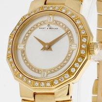 Baume & Mercier Baume  Damenuhr 18kt Gelbgold Diamanten...