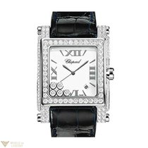 Chopard Happy Sport Square Diamond Steel Ladies Watch