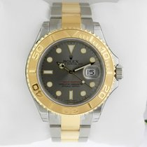 Rolex Yacht-Master 40 Steel & Yellow Gold Watch Steel Dial...