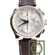 Longines Heritage 1954 Chronograph 40mm Crocodile Strap NEW