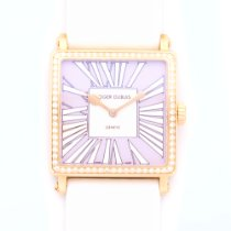 Roger Dubuis Lady's Rose Gold Golden Square Diamond Watch