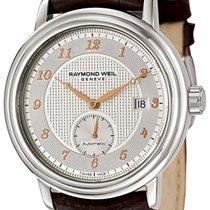 Raymond Weil Maestro Automatic Steel Mens Strap Watch Silver...