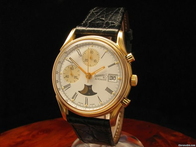 Eberhard &amp;amp; Co. Limitierte Auflage Chronograph Mondphase Gold Mantel Herrenuhr