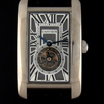 Cartier White Gold Tank Americaine Flying Tourbillon W2620007